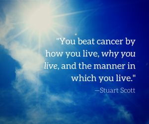 You beat cancer